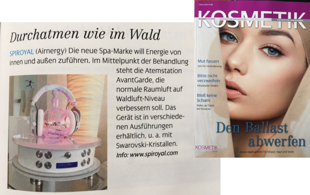 Publication in Kosmetik International